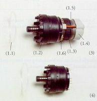 Antriebseinheit, Elektro-Dreheinsatz / Antriebseinheit, Gelenkantrieb mit Koaxialstecker
