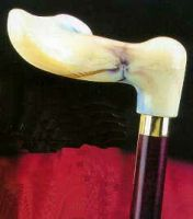 Fischer-Stock rechts, marmoriert/kirschbaum