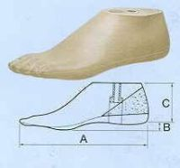 Geriatrie-SACH-Fuß, für Herren