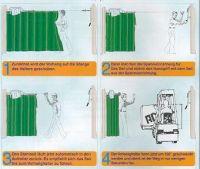Schutzvorhang - Aufhängung
