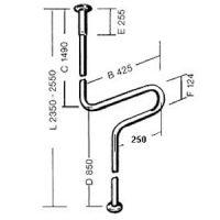 Boden-Decken-Kombination Edelstahl GRIP / Boden-Decken-Kombination Edelstahl GLATT / Boden-Decken-Kombination Color GRIP / Boden-Decken-Kombination Color GLATT
