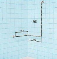 Sicherheits-Rundlaufgriffkombination mit senkrechter Aufstehstütze als Brausestange für Dusche