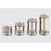 Doppeladapter mit Justierschrauben, Titan / Doppeladapter mit Justierschrauben, Edelstahl