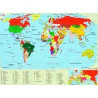 Reliefkarte von der Erde