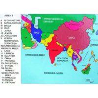 Reliefkarte Asien