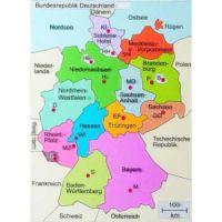 Reliefkarte Bundesländer