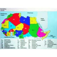 Reliefkarte Nordafrika