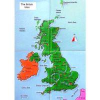 Reliefkarte Britische Inseln