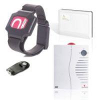Raphael-home small business: Wegläuferschutz mit RFID-Armband und Funkalarm auf tragbarem Empfänger