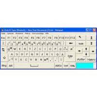 Click-N-Type Bildschirmtastatur