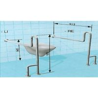 Sicherheits-WC-Stützgriff als Spastiker-Hilfsmittel mit vorderem oberen Greifbogen