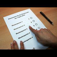 Stimmzettelschablonen / Wahlschablonen