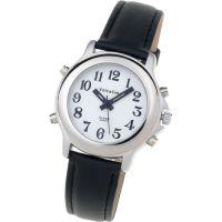 Sprechende Armbanduhr VoiceTime Lady mit Lederarmband