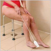 Fuß- und Zehenwascher mit Griff incl. 2 Frotteebezügen