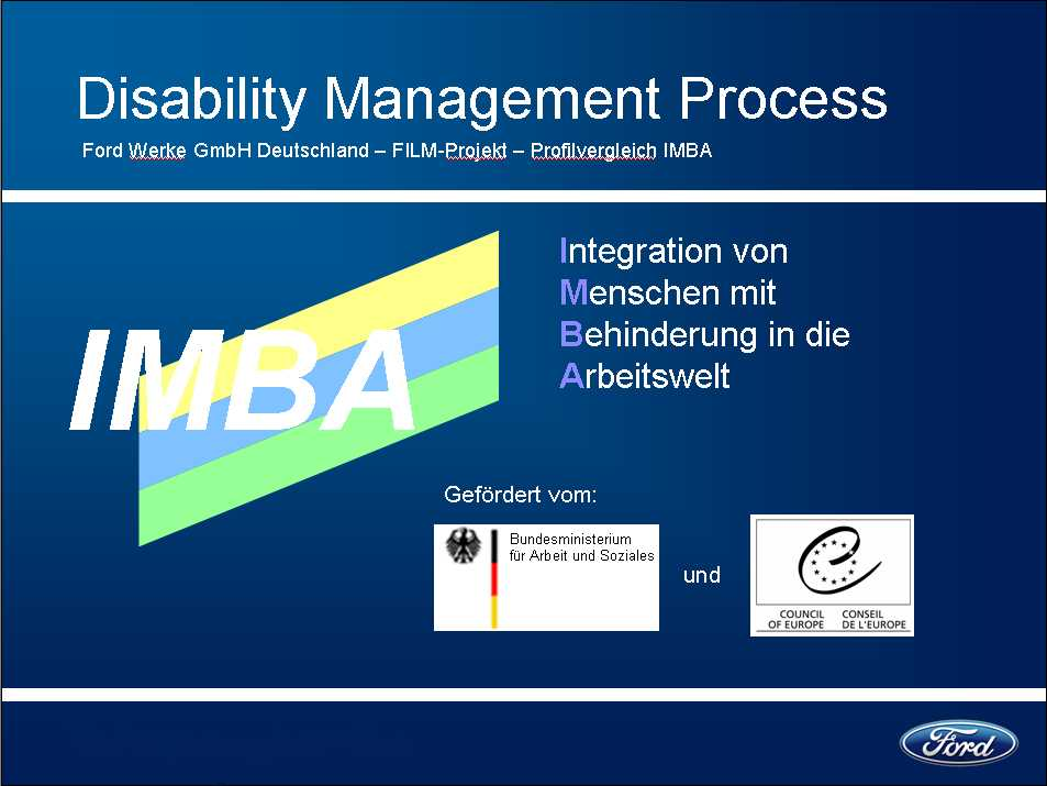 Profilvergleich mit IMBA