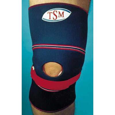 Kniebandage mit Patella-Aussparung u. -Sehnenband