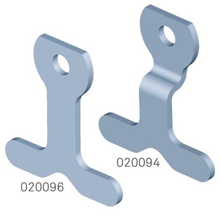 Fußbügel mit T-Lappen für Double Action-Gelenk