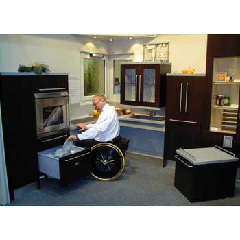 Küche Rollstuhlfahrer
