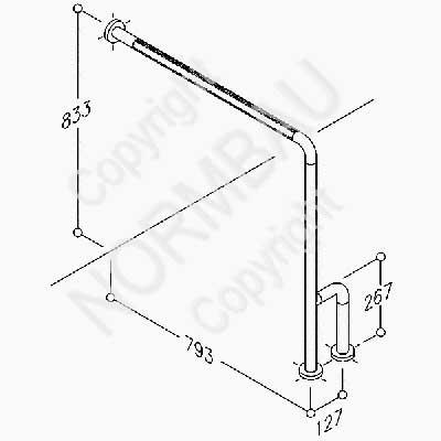 Boden-Wandstützgriff Artikel 0451 010