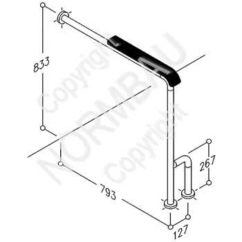 Boden-Wandstützgriff Artikel 0451 410