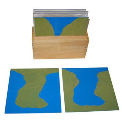 Karten mit Landformen