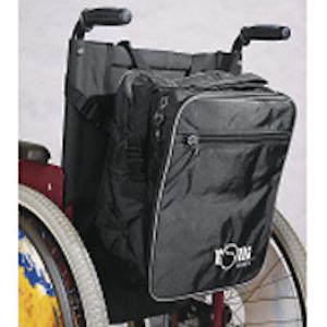 Maxibag Schwarz am Rollstuhl
