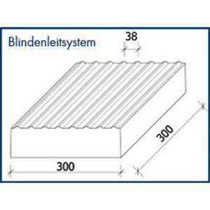 Blindenleitplatte