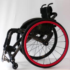 Lederummantelung für Greifreifen an Rollstühlen