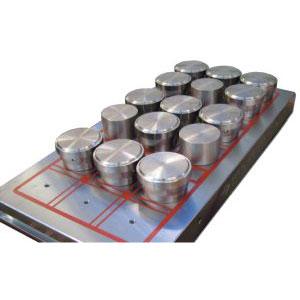Magnetspannplatte Quad Extra mit Polverlängerungen