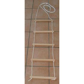 Aufrichthilfe; Strickleiter; Bettleiter aus Naturholz