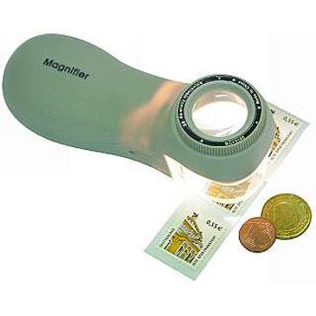 Hand-Lupe Ergo mit 8-facher Vergrößerung, beleuchtet