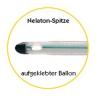 Nelaton-Spitze, aufgeklebter Ballon