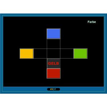 Trainingsprogramm Jeton, Übung Wort/Farbe