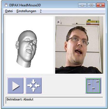 DIPAX HeadMouse3D Bildschirmausgabe