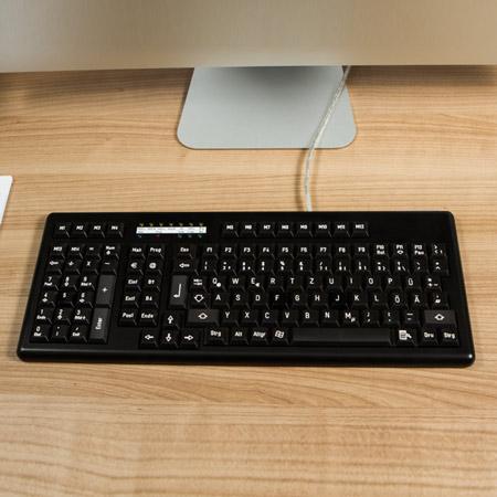 Managerboard Linkshänder schwarz