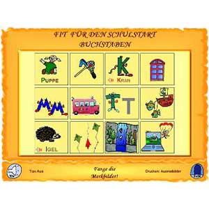 Fit für den Schulstart: Buchstaben, Übung Merkbilder