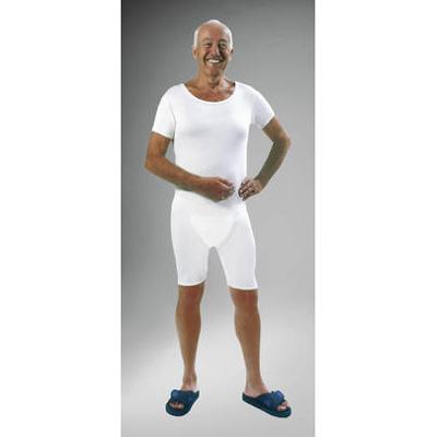 Pflegebody kurzer Arm mit Beinreißverschluss
