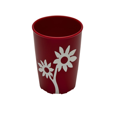 Becher mit Antirutsch-Blume 250 ml