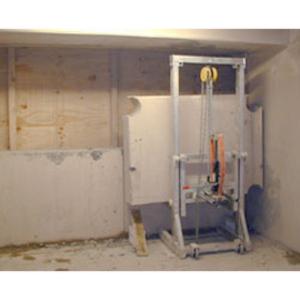 Steinblock-Lift