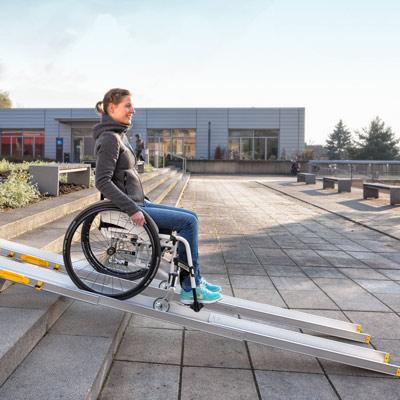 Rollstuhl-Leichtgewicht-Rampe