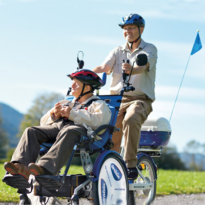 Fahrrad-Rollstuhl Draisin-Plus