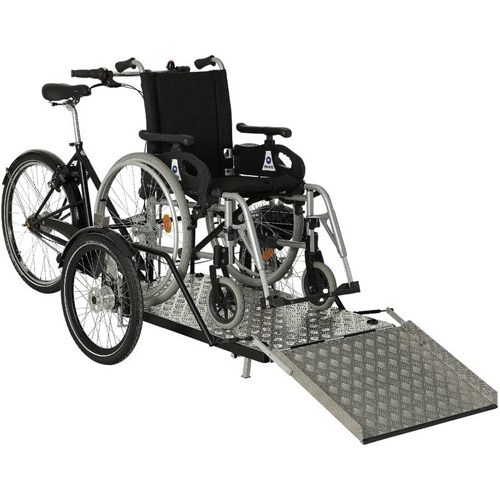 Nihola Flex mit Rollstuhl