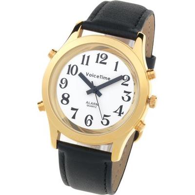 Sprechende Armbanduhr VoiceTime Gold Gentleman 598201