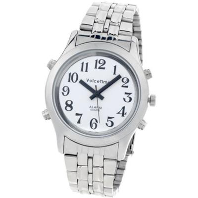 Sprechende Armbanduhr Voice Time Edelstahl Gentleman 598203