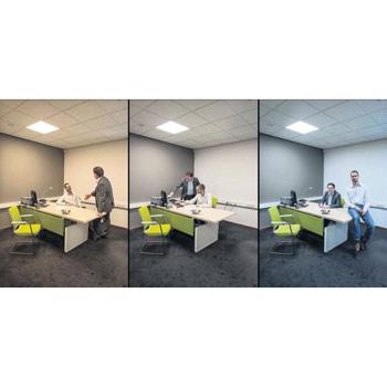 Dynamische Bürobeleuchtung - Anwendungsbeispiel