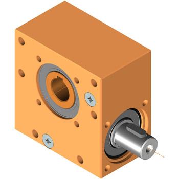 kompackte Bauform, Schneckengetriebe universell einsetzbar