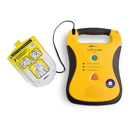 externer Herzstimulator, Defibtech Lifeline AED mit Elektroden