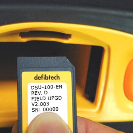 externer Herzstimulator, Defibtech Lifeline AED mit Speicherkarte
