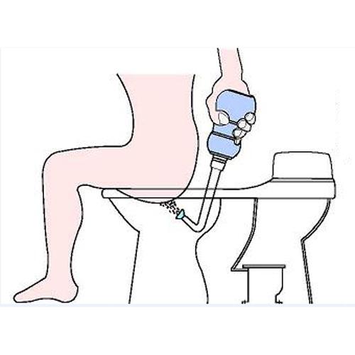 transportables Dusch-WC Anwendung