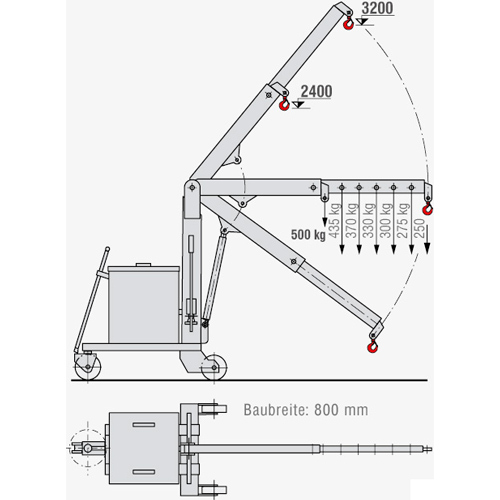 Montagekran KR-F 50 - Zeichnung